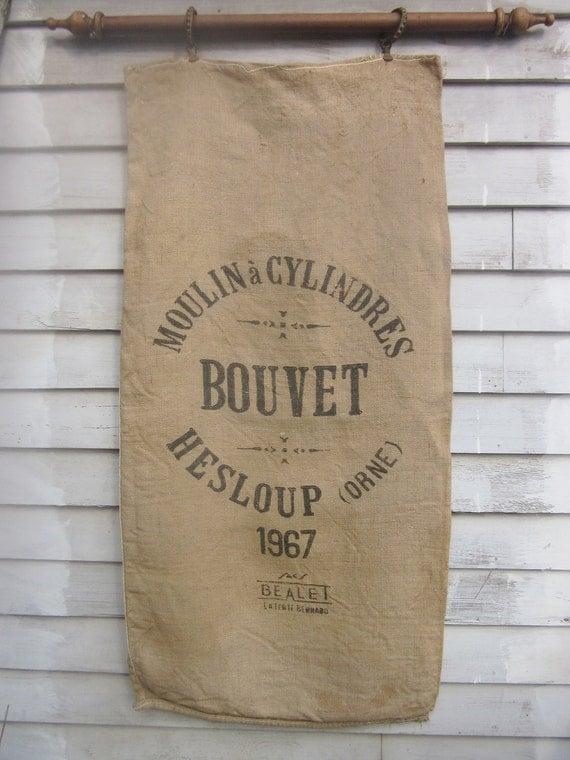 30% OFF: Vintage French Burlap Grain Sack