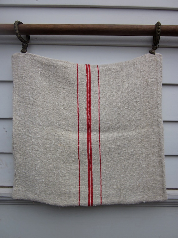 Pillow Case made from Antique Grain Sack
