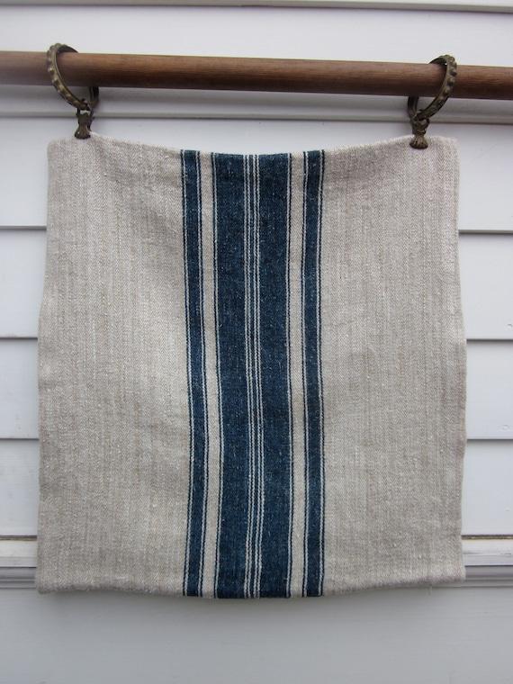 Pillow Case made from Antique Hemp Grain Sack