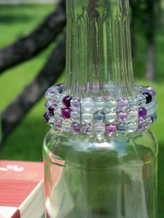 Chunky Rainbow Flourite Bracelet