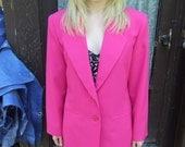 CLOSING SALE 80s Hot Pink Blazer M L