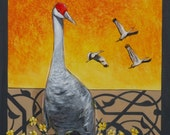 Crane Art Print 16x20