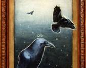 Raven Sermon - Fine Art Matted Print 11x14
