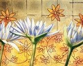 Lotus Trio - Lotus Flower Art - Fine Art Print  - 16 x 20 Lotus Trio Print