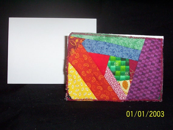 Crazy Patch Block Blank Greeting/Note Card (C 503)
