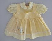 yellow spring dress and bloomers
