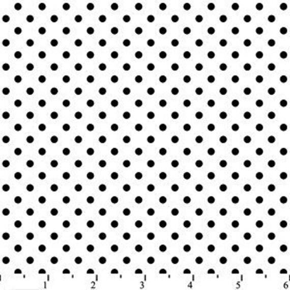 Black and White Polka Dot Flannel, 1 Yard