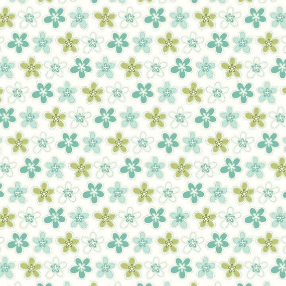 Bloom and Grow from Riley Blake, Bloom Daisy in Blue, 33 Inches