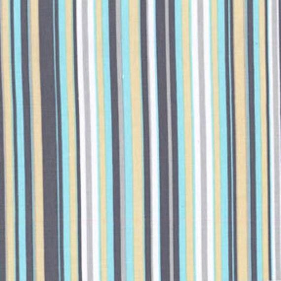 Play Stripe Flannel in Sea For Michael Miller, 1 Yard