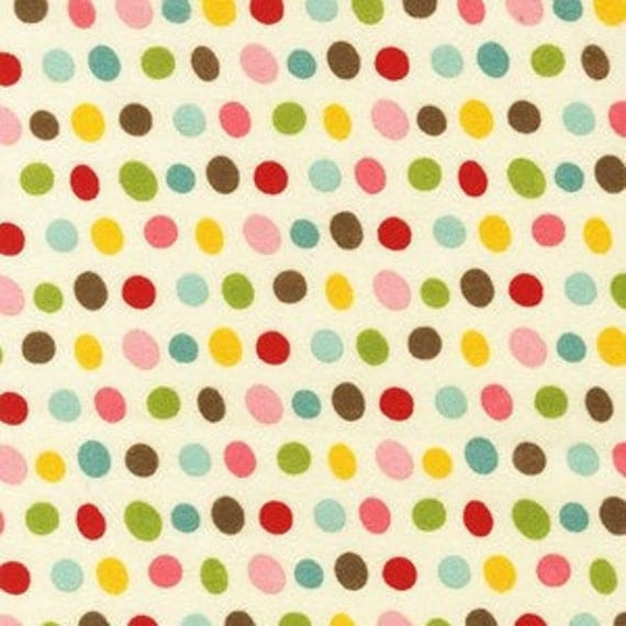 Robert Kaufman Pretty Paisley Retro Dots Flannel, 1 Yard