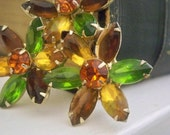 Fall Flower  Vintage Brooch