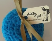 dirty girl pots and pans scrubber - turquoise