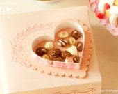 SALE - Valentines Chocolates 1/12 scale dollhouse miniature