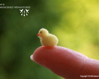 Fluffy Easter Chick 1/12 scale dollhouse miniature