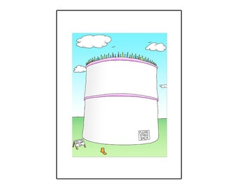 Big Cake with Cat - Birthday Card