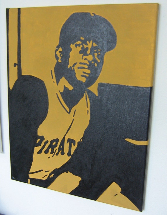 16 inch by 20 inch Roberto Clemente Painting