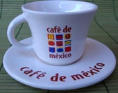 MEXICAN COFFEE DEMITASSE CUP AND SAUCER