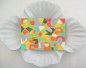 Orange Abstract Art Original ATC/ACEO Art Card