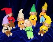 Dolls Elves Vintage Seven Dwarves Gnomes