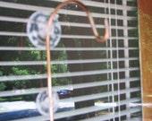 window mounted hanger for hummingbird feeder or bird house