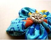 Seaside Fabric Flower Brooch