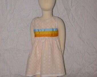 The Madelynn Dress - sunset eyelet, size 12-18 month
