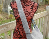 Upcycled Crossbody Large Grey Purse