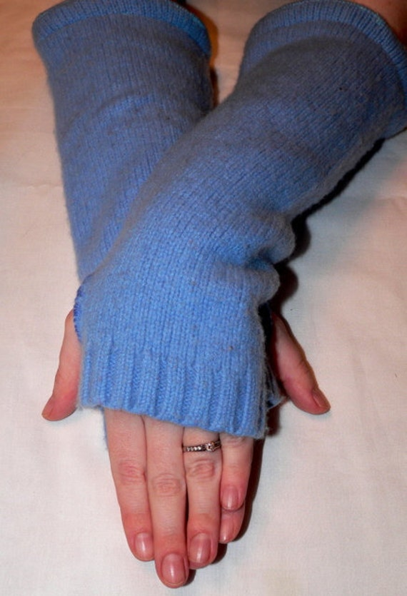 The ice queen, cashmere arm warmers/fingerless gloves