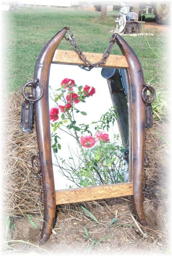 Horse Hames Mirror  old west