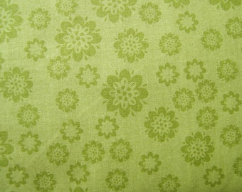 Green Flowers Verona Fabric by the Yard  Riley Blake