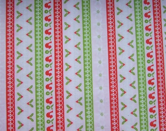 Pink Stripe Fabric by the Yard Alpine Wonderland - Sheri McCulley for Riley Blake Designs