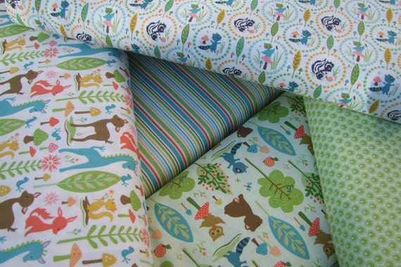 Woodland Tails by Sheri McCulley for Riley Blake Designs 5 Fat Quarter Bundle Pack