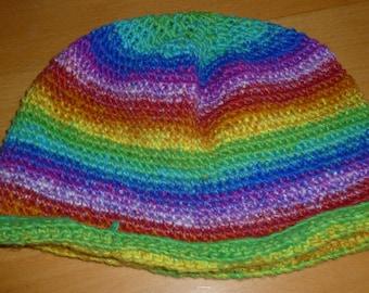 Light Rainbow Crocheted Hat