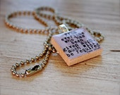 From Everyone Who Has Been Given Much, Much Will Be Required Scrabble Necklace Luke 12 48