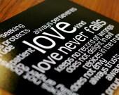 LOVE 1 Corinthians 13 Word Art