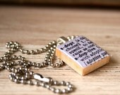 ADOPT Dictionary Definition Scrabble Necklace