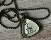 my anchor holds in spite of the storm necklace