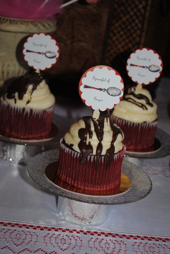 Mary Poppins Cupcake Topper Set of 24