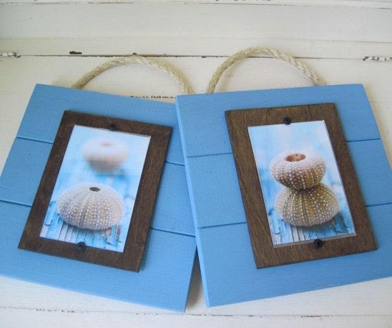 Custom for Kimberly Set of 2 Seafoam Plank Frames