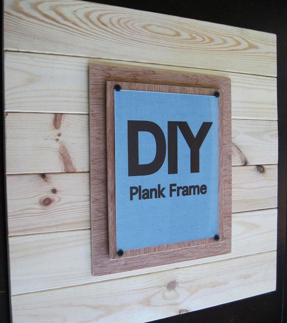 """Custom for Lindsay Set of  2  24""""X24"""" Plank Frames for 8x10's"""