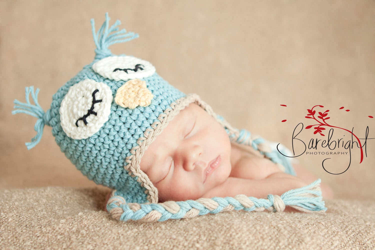 Crochet Pattern For Newborn Owl Hat : Owl Hat Pattern baby hat Pattern crochet Newborn to 12