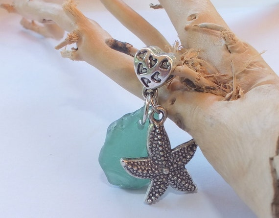 Sea Glass Beach Glass Starfish Charm from the shores of Lake Erie
