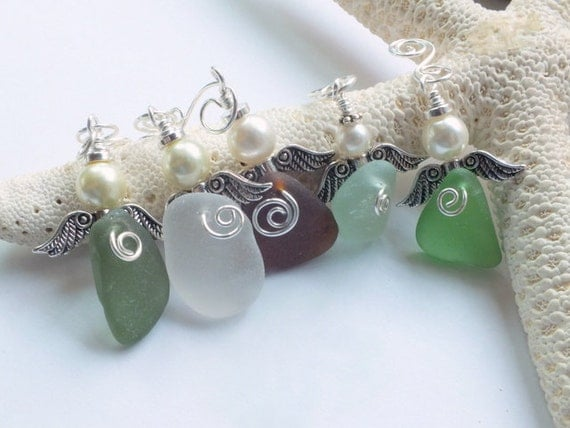 Sea Glass Beach Glass Angels PURCHASE ONE from the shores of Lake Erie