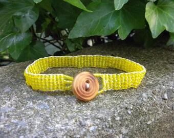 WOVEN Sunshine Daydream bracelet/yellow