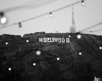 """Hollywood Sign, Black and white photograph, 16x20"""""""