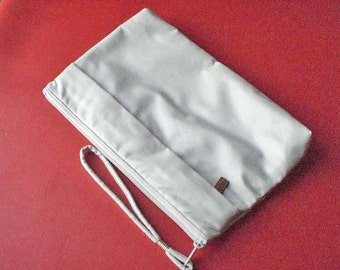 CLEARANCE SALE Vintage Womens Clutch  Winter Skies White
