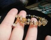 Purple and Citrine bracelet