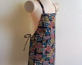 Childrens Apron -  Mr. Bear Kids Apron for Boy or Girl - ABC's-1 2 3's - Great for painting, arts and crafts, cooking, baking