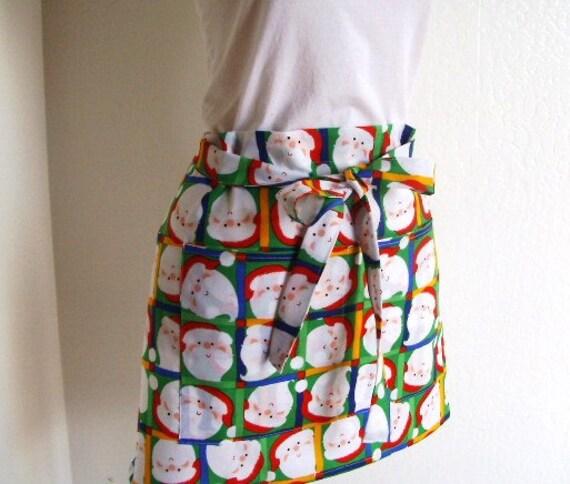 Half Christmas Apron - SALE  Ho Ho Ho - Santa is Here - Half vendor or hostess apron