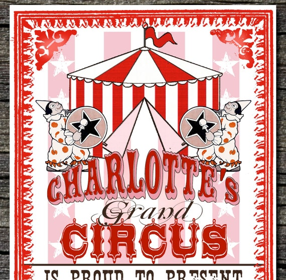 Grand Circus Invitations and Thank You cards (sold separately)